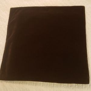 Crate&Barrel Chocolate Brown Velvet Throw Pillow
